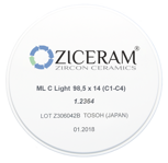 Диоксид циркония ZICERAM ML A Light 98.5х14 (А1-А3.5)